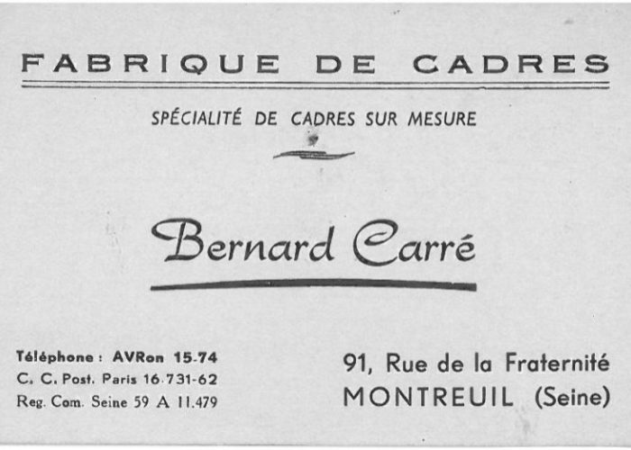 Carte de visite B.Carré